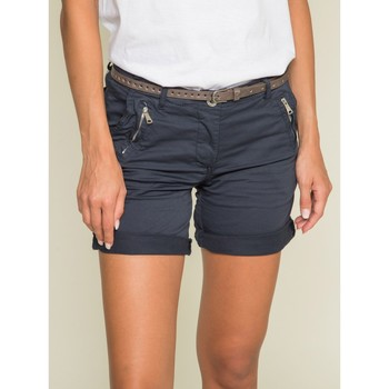 Vêtements Femme Shorts / Bermudas Dona X Lisa Short chino XORA Bleu marine