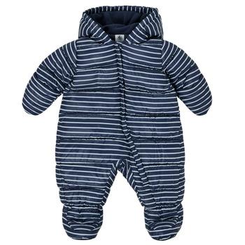 Vêtements Garçon Doudounes Petit Bateau TECHA Bleu / Blanc