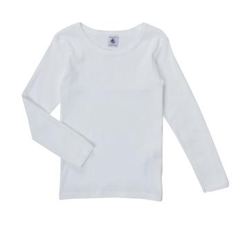 Vêtements Fille T-shirts manches longues Petit Bateau FATRE Blanc