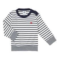 Vêtements Garçon T-shirts manches longues Petit Bateau IGRAE Blanc / Bleu
