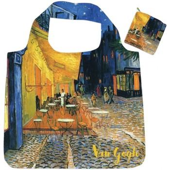 Sacs Femme Sacs Bandoulière Muzeum Sac pliable Terrasse du Café le Soir de Van Gogh Bleu