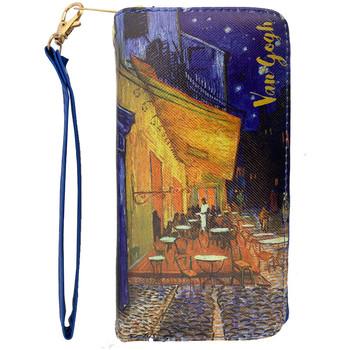 Sacs Femme Portefeuilles Muzeum Grand portefeuille Terrasse du Café le Soir de Van Gogh Bleu