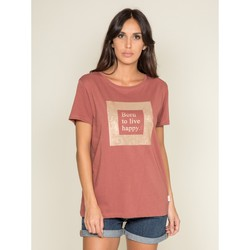 Vêtements T-shirts manches courtes Dona X Lisa T shirt col rond message FLIGNY Blanc