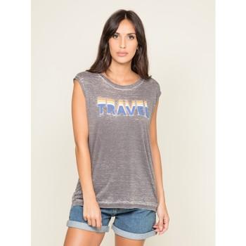 Vêtements Femme Débardeurs / T-shirts sans manche Dona X Lisa T shirt col rond FLORIFOU Gris