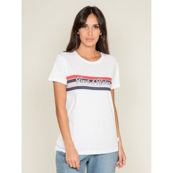 Vêtements Femme T-shirts manches courtes Dona X Lisa T shirt col rond FRAMONT Blanc