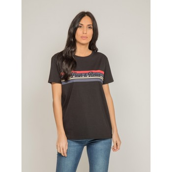 Vêtements Femme T-shirts manches courtes Dona X Lisa T shirt col rond FRAMONT Noir