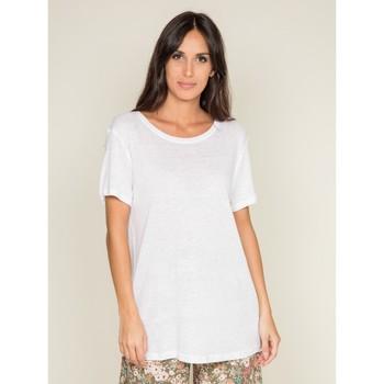 Vêtements Femme T-shirts manches courtes Dona X Lisa T shirt col rond uni FREDILLE Blanc