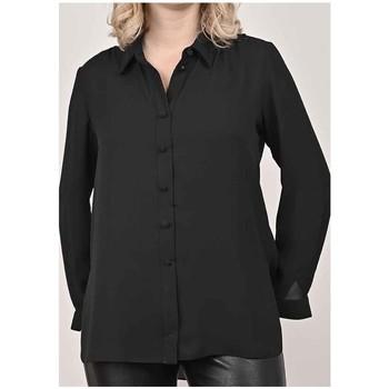 Vêtements Femme Chemises / Chemisiers Georgedé Chemise Esma en Mousseline Noire Noir