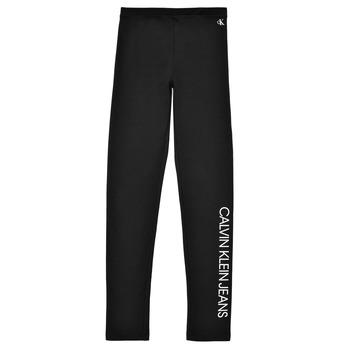 Vêtements Fille Leggings Calvin Klein Jeans MERCA Noir