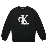 Vêtements Fille Sweats Calvin Klein Jeans POLLI Noir
