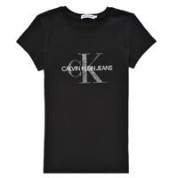 Vêtements Fille T-shirts manches courtes Calvin Klein Jeans VOYAT Noir