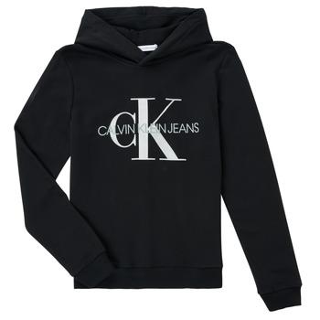 Vêtements Enfant Sweats Calvin Klein Jeans TRINIDA Noir