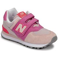 Chaussures Fille Baskets basses New Balance 574 Rose / Violet