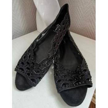 Chaussures Femme Ballerines / babies Bata Ballerines noires à strass - P40 - Bata Noir