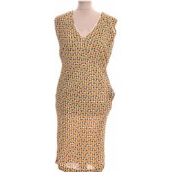 Vêtements Femme Robes longues Maliparmi Robe Mi-longue  42 - T4 - L/xl Jaune