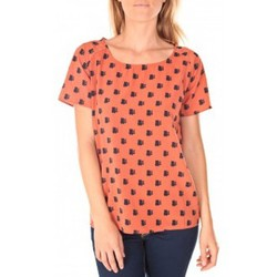 T-shirts manches courtes Vero Moda Racoon South Hamptons SS Top EA Rouille