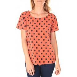 Vêtements Femme T-shirts manches courtes Vero Moda Racoon South Hamptons SS Top EA Rouille Orange