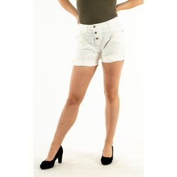 Vêtements Femme Shorts / Bermudas Please p17h cv94u1 1136 bianco grezzo blanc
