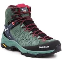 Chaussures Femme Randonnée Salewa WS Alp Trainer 2 Mid Gtx Noir, Vert