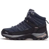 Chaussures Femme Randonnée Cmp Rigel Mid Wmn WP Noir, Bleu marine