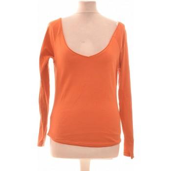 Vêtements Femme Tops / Blouses Dorotennis Top Manches Longues  36 - T1 - S Orange