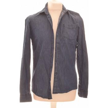 Vêtements Homme Chemises manches longues Celio Chemise Manches Longues  36 - T1 - S Bleu