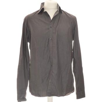 Vêtements Homme Chemises manches longues Celio Chemise Manches Longues  40 - T3 - L Gris