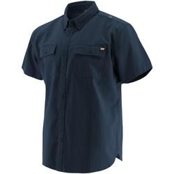 Vêtements Homme Chemises manches courtes Caterpillar  Bleu marine