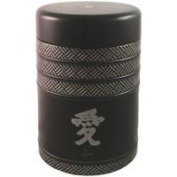 Maison & Déco Paniers, boites et corbeilles Zen Et Ethnique Petite boite à thé Kyoto Contenance 125 gr Noir
