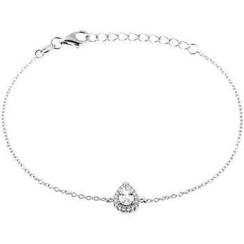 Montres & Bijoux Femme Bracelets Cleor Bracelet  en Argent 925/1000 Blanc et Oxyde Blanc