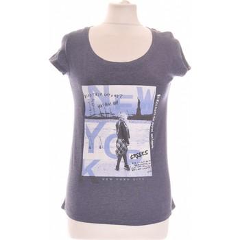 Vêtements Femme Tops / Blouses Creeks Top Manches Courtes  36 - T1 - S Bleu
