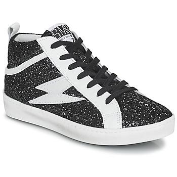 Chaussures Femme Baskets montantes Semerdjian ALFA Noir / Blanc