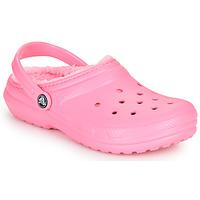 Chaussures Enfant Sabots Crocs CLASSIC LINED CLOG K Rose