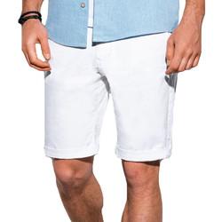 Vêtements Homme Shorts / Bermudas Monsieurmode Short chino pour homme Short W243 blanc Blanc