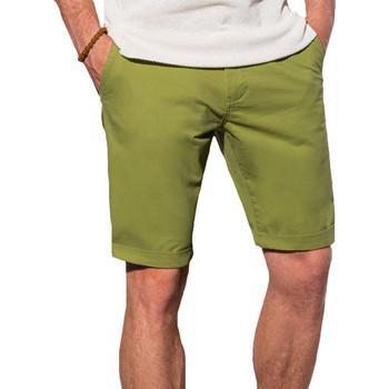 Vêtements Homme Shorts / Bermudas Monsieurmode Short chino fashion homme Short W243 vert Vert