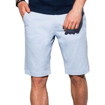 Vêtements Homme Shorts / Bermudas Monsieurmode Short chino pour homme Short W243 bleu clair Bleu