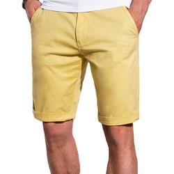 Vêtements Homme Shorts / Bermudas Monsieurmode Short chino homme Short W243 jaune Jaune