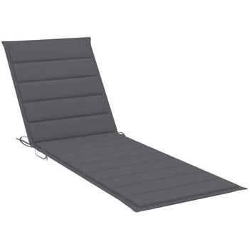 Maison & Déco Coussins VidaXL Coussin de chaise longue 200 x 60 x 4 cm Anthracite