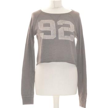 Vêtements Femme Tops / Blouses Abercrombie Top Manches Longues  36 - T1 - S Gris
