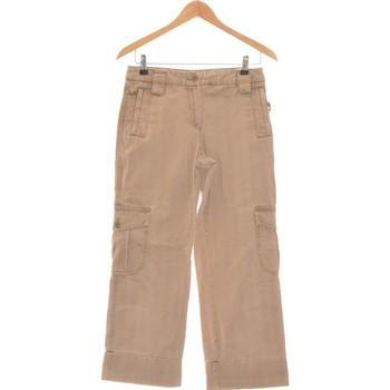 Vêtements Femme Pantalons cargo Manoukian Pantalon Droit Femme  36 - T1 - S Marron