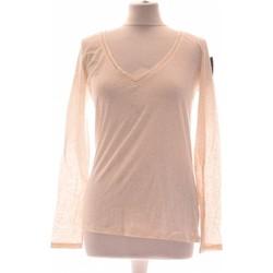 Vêtements Femme Tops / Blouses Etam Top Manches Longues  36 - T1 - S Beige