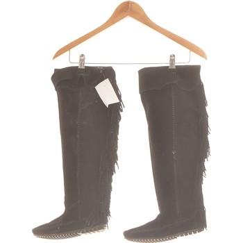 Chaussures Femme Bottines Minnetonka Paire De Bottes  35 Noir