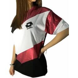 Vêtements Femme T-shirts manches courtes Lotto LTD445 Blanc/Fuchsia