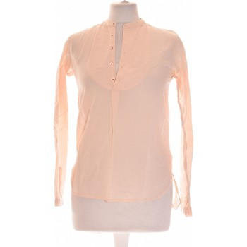Vêtements Femme Tops / Blouses Monoprix Top Manches Longues  36 - T1 - S Orange