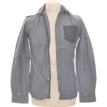 Vêtements Homme Chemises manches longues Celio Chemise Manches Longues  36 - T1 - S Gris