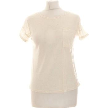 Vêtements Femme Tops / Blouses Atmosphere Top Manches Courtes  34 - T0 - Xs Beige