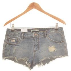 Vêtements Femme Shorts / Bermudas Pull And Bear Short  34 - T0 - Xs Bleu