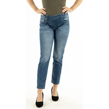 Vêtements Femme Jeans droit Please p0k5 bq2e25 1670 blu denim bleu