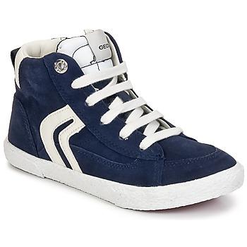 Chaussures Garçon Baskets montantes Geox KIWI BOY Marine