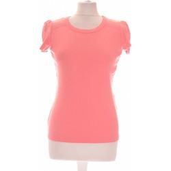 Vêtements Femme Tops / Blouses 1.2.3 Top Manches Courtes  36 - T1 - S Rose
